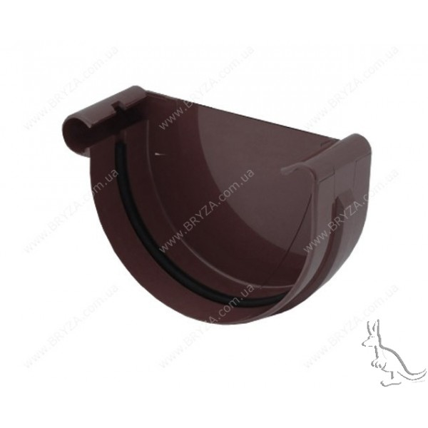 BRYZA Заглушка 150 мм левая коричневая