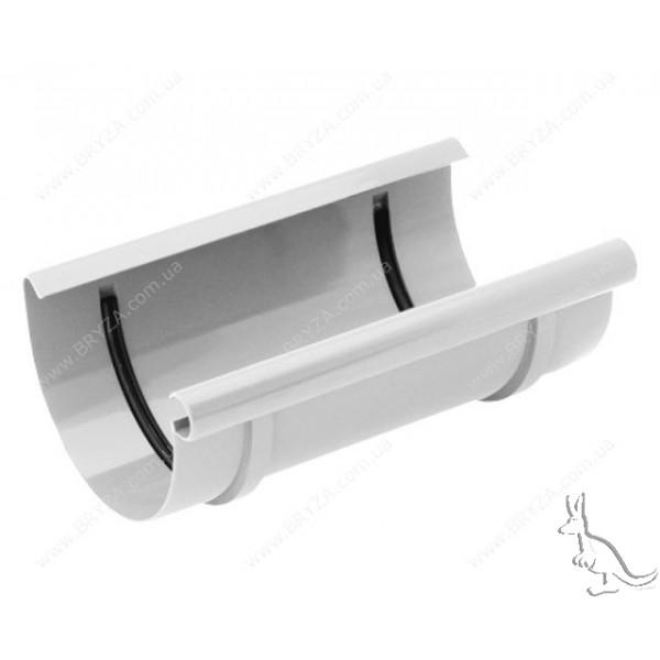 BRYZA Муфта желоба 125 mm Белый