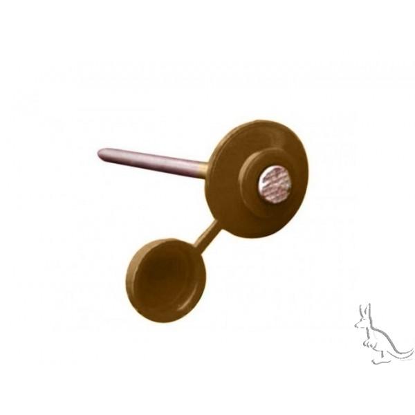 Ондулин ГВОЗДИ коричневые с закрывающейся шляпкой (100 шт)
