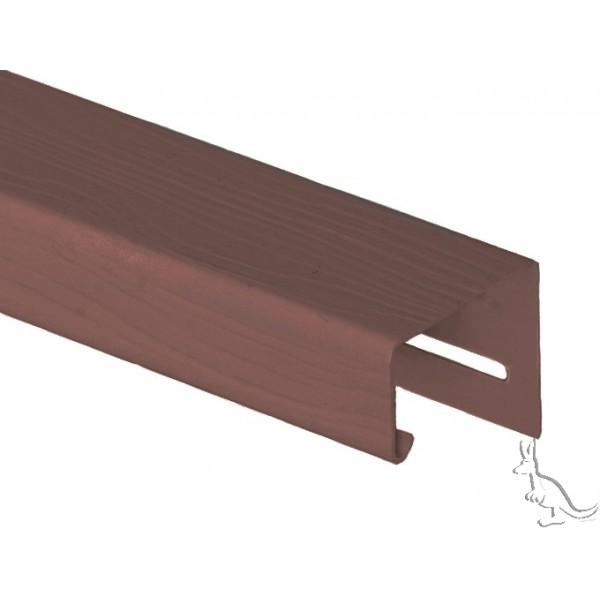 Holzblock J-Профиль Темно-коричневый, длина 3,66 м