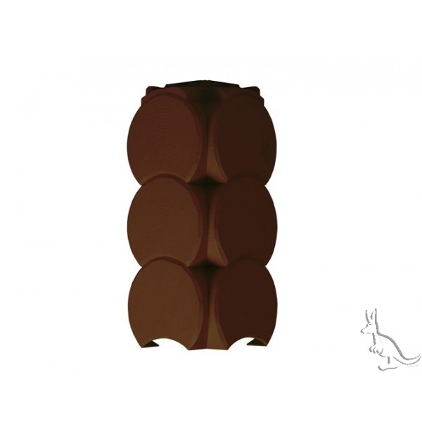 Holzblock внешний угол венец темно-коричневый 150