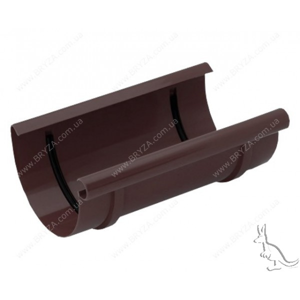 BRYZA Муфта желоба 125 mm Коричневый